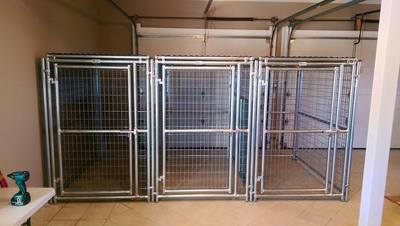 kennel dogs indoor enclosure pets