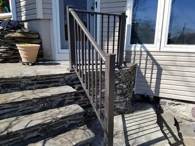 36 inch aluminum railing stair rail bronze hand rail step rail