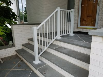 36 inch high aluminum railing white stair rail step rail railing