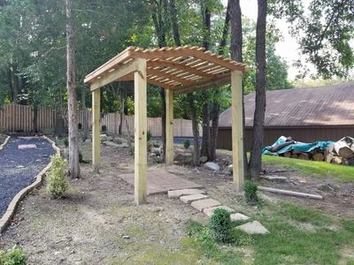pergola trellis red cedar arch arbor patio cover